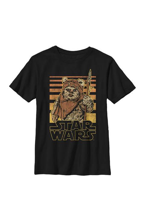 Wicket Retro Ewok Sunset Halftone Crew Graphic T-Shirt