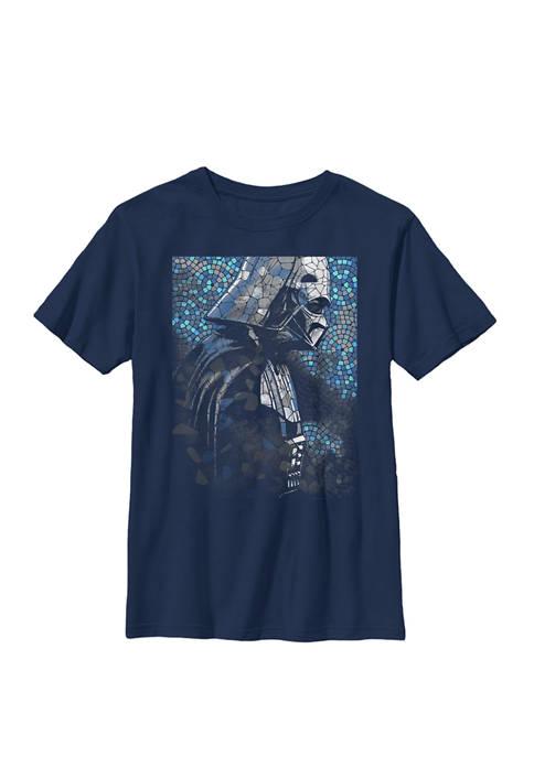 Darth Vader Mosaic Z1 Crew Graphic T-Shirt