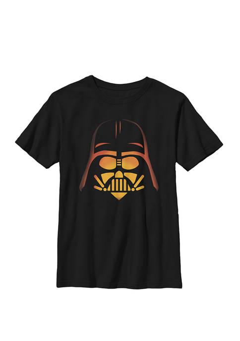 Darth Vader Pumpkin Carving Halloween Crew Graphic T-Shirt