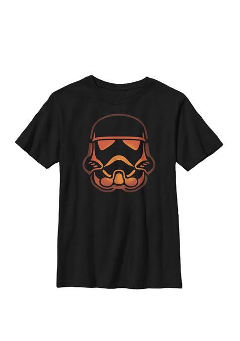 Boys 8-20 Stormtrooper Pumpkin Carving Halloween Crew Graphic T-Shirt