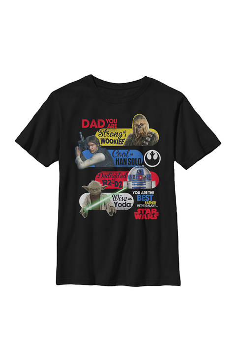 Best Father In The Galaxy Crew Graphic T-Shirt