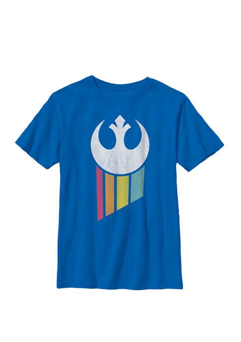 Boys 8-20 Rebel Rainbow Logo Crew Graphic T-Shirt