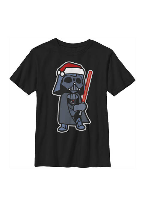 Star Wars® Boys 4-7 Darth Santa Graphic Top