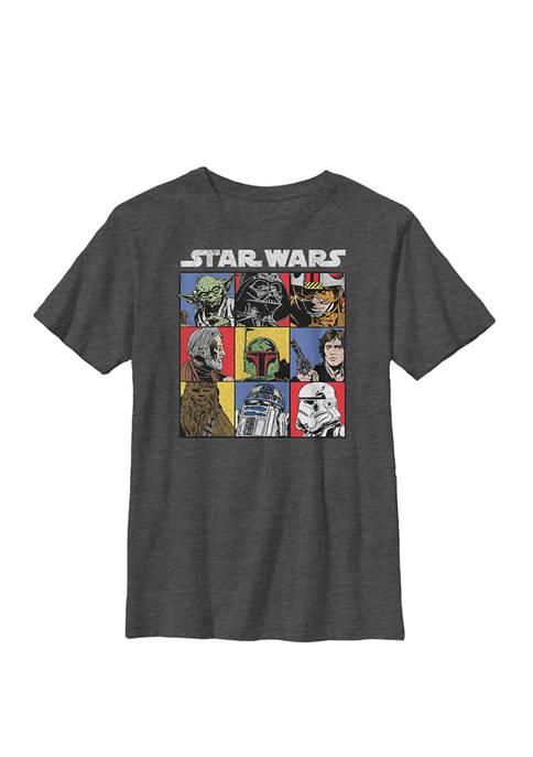 Vintage Face Boxes Crew Graphic T-Shirt
