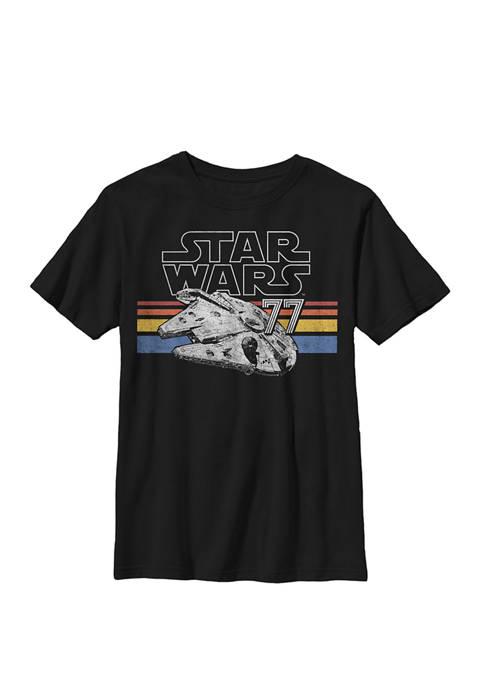 Retro Falcon Stripes Crew Graphic T-Shirt