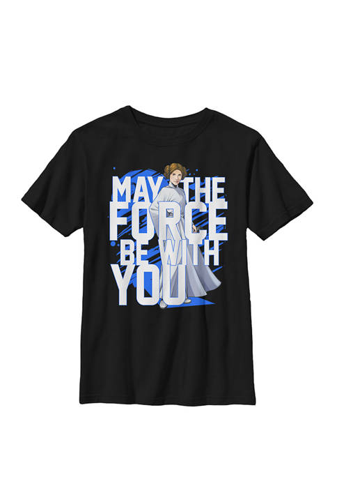 Force Be With You Princess Leia Crew Graphic