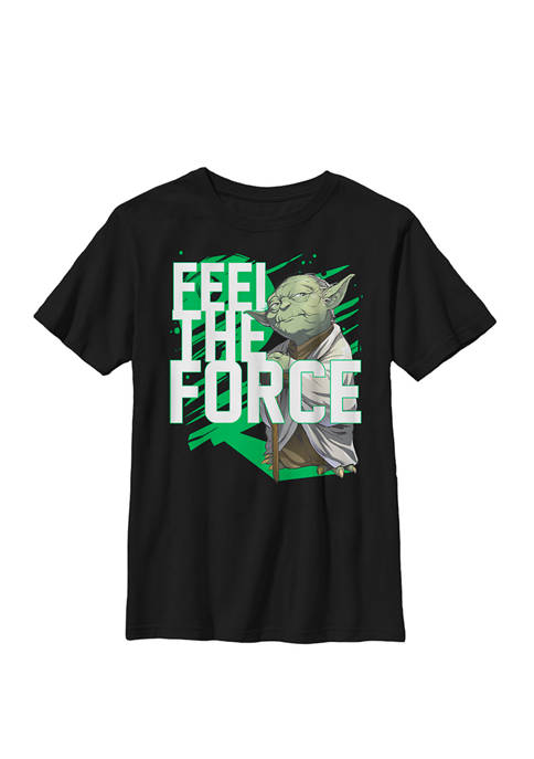Feel The Force Yoda Crew Graphic T-Shirt