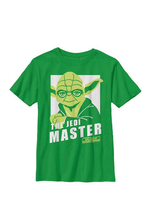 Boys 8-20 Galaxy Of Adventures Yoda The Master B1P Crew Graphic T-Shirt