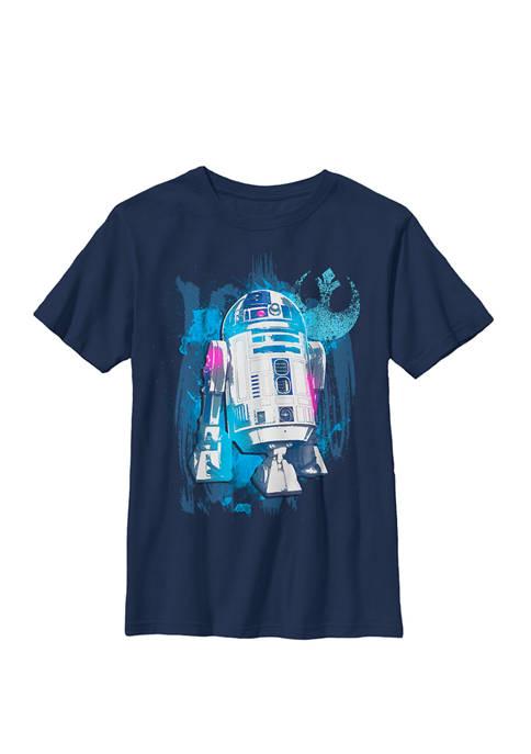 R2-D2 Paint Splatter Rebel Logo B1 Crew Graphic