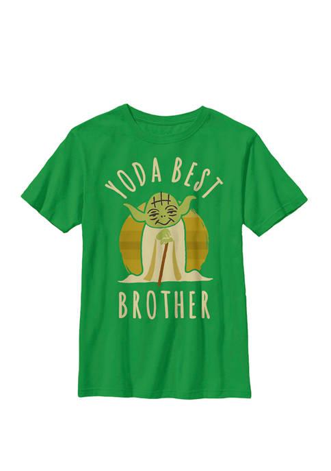 Yoda Best Brother Cartoon Yoda Crew Graphic T-Shirt
