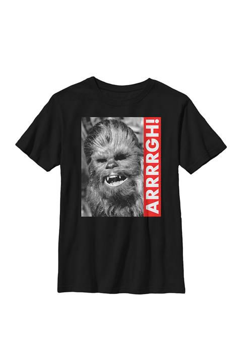 Boys 8-20 Wookiee Rebel Yell Crew Graphic T-Shirt