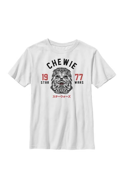 Boys 8-20 Retro Chewie Face Crew Graphic T-Shirt