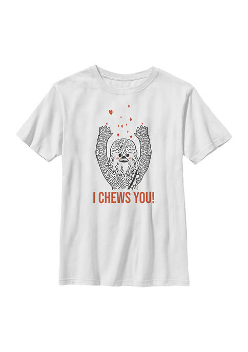 Boys 4-7 I Chews You Chewy Graphic T-Shirt