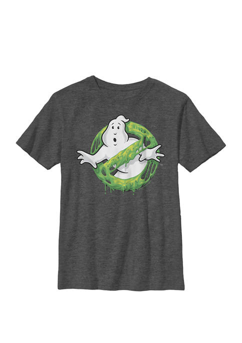 Ghostbusters Classic Slime Ghost Logo Crew Graphic T-Shirt