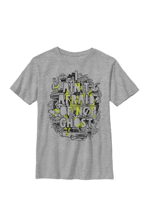 Ghostbusters Aint Afraid Collage Slime Drip Poster Crew Graphic T-Shirt
