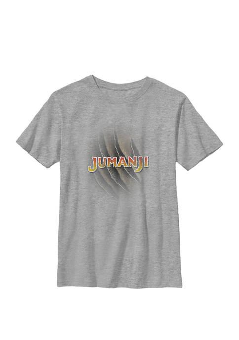 Jumanji Claw Marks Logo Crew Graphic T-Shirt