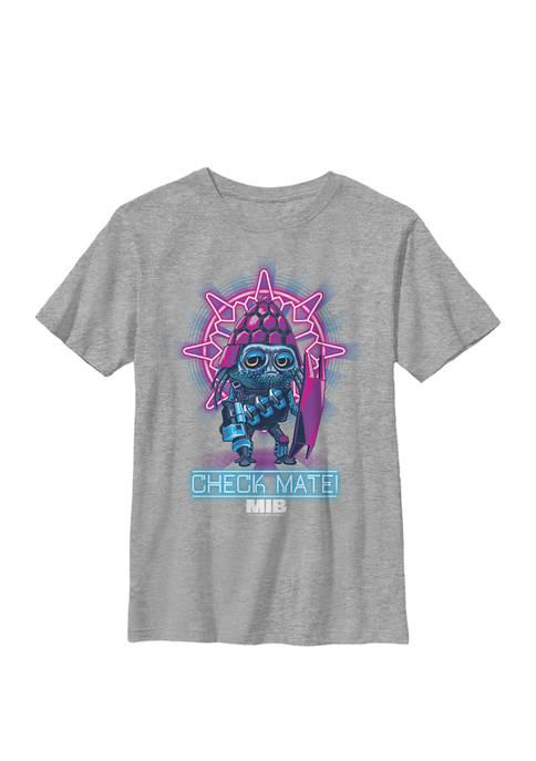 International Check Mate Portrait Crew Graphic T-Shirt