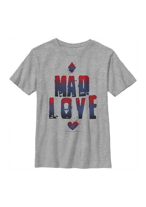 Batman™ Boys 4-7 Mad Love Text Graphic T-Shirt