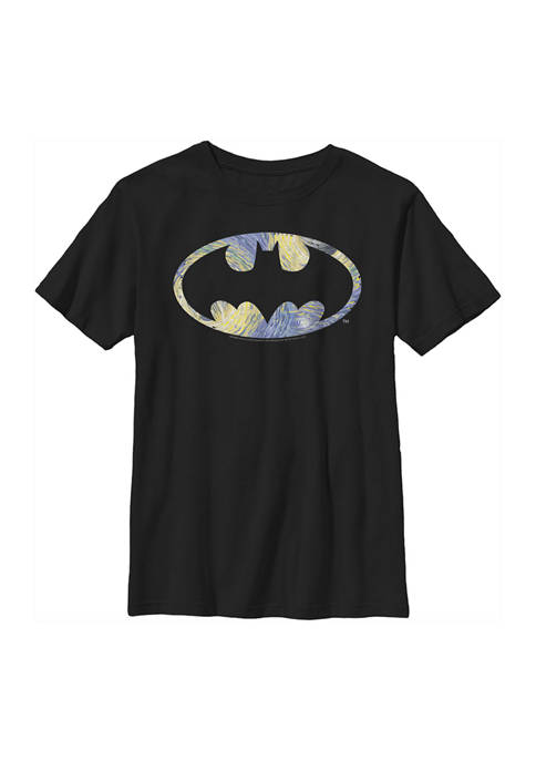 Boys 4-7 Starry Bat Logo Graphic T-Shirt