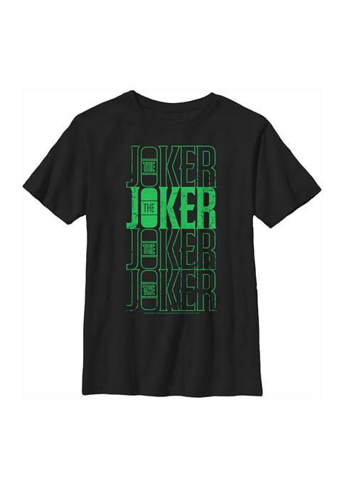 Batman™ Boys 4-7 Joker Urban Logo Repeating Distressed