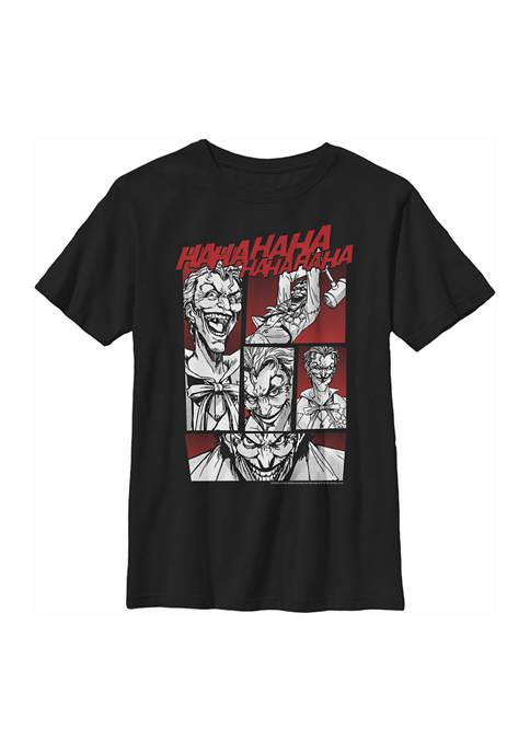 Boys 4-7 Joker Comic Panels Graphic T-Shirt