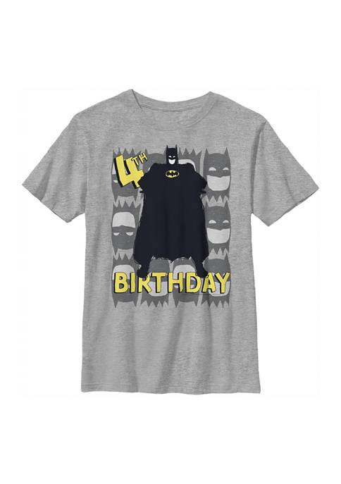 Boys 4-7 4th Birthday Graphic T-Shirt