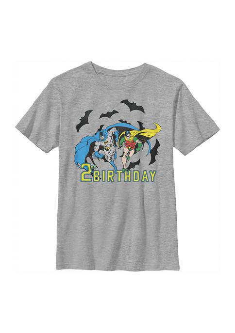 Boys 4-7 Bats 2nd Birthday Graphic T-Shirt