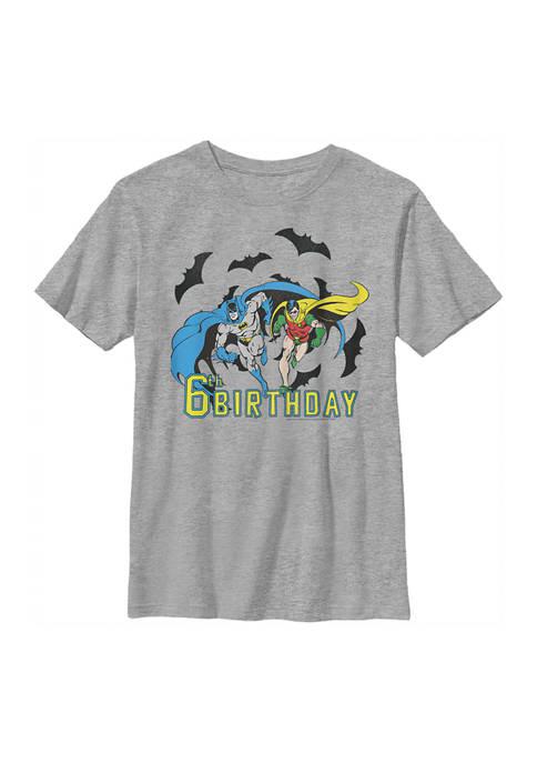 Batman™ Boys 4-7 Bats 6th Birthday Graphic T-Shirt