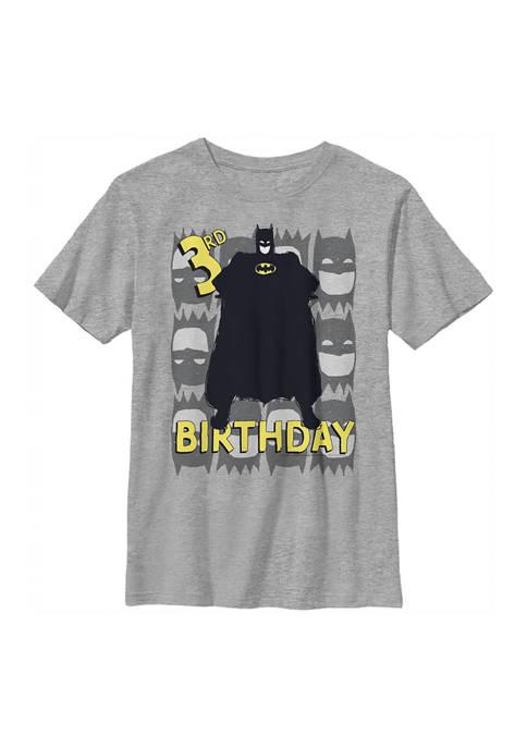 Batman™ Boys 4-7 3rd Birthday Graphic T-Shirt