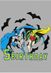 Boys 4-7 Bats 5th Birthday Graphic T-Shirt