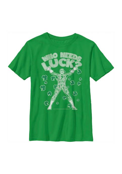 Batman™ Boys 4-7 Lucky Riddle Graphic T-Shirt