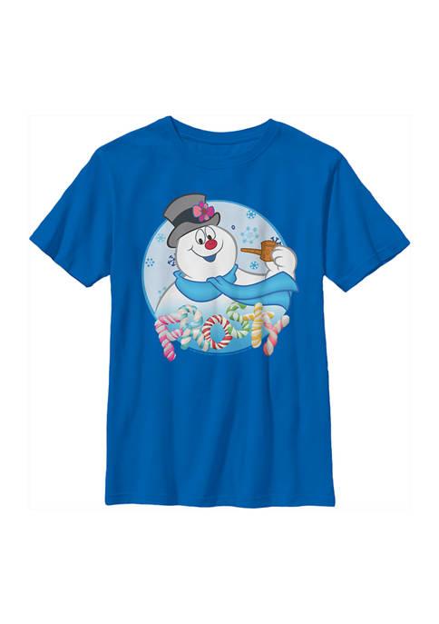 Frosty the Snowman Boys 4-7 Frosty Circle Face