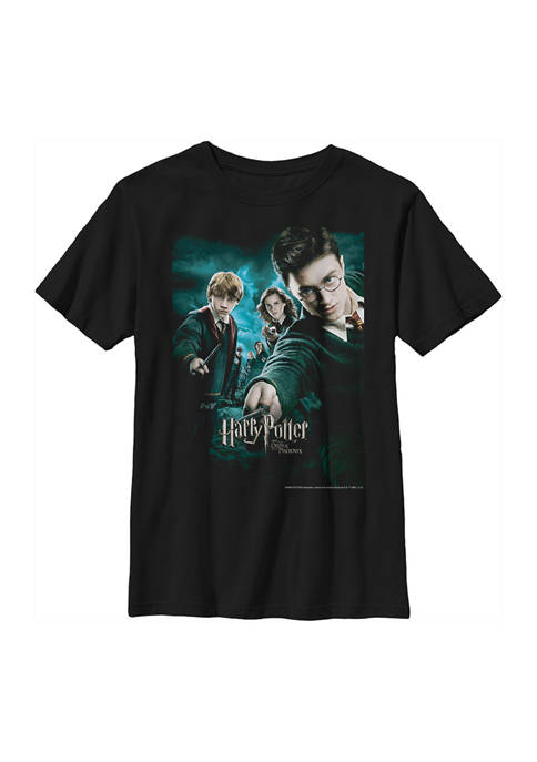 Boys 4-7  Wands Drawn Graphic T-Shirt