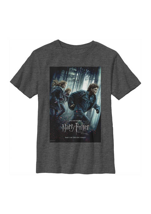 Boys 4-7  Deathly Hallows Part One Poster Graphic T-Shirt