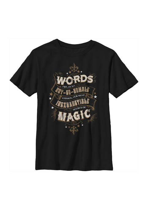Harry Potter™ Boys 4-7 Humble Words Graphic T-Shirt