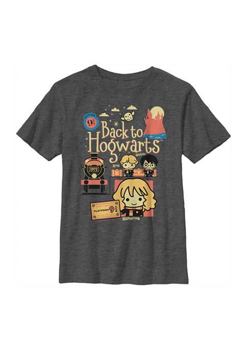 Boys 4-7  Cute Train Graphic T-Shirt