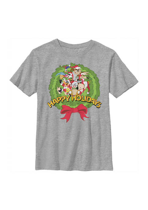 Looney Tunes™ Boys 4-7 Looney Group Wreath Graphic