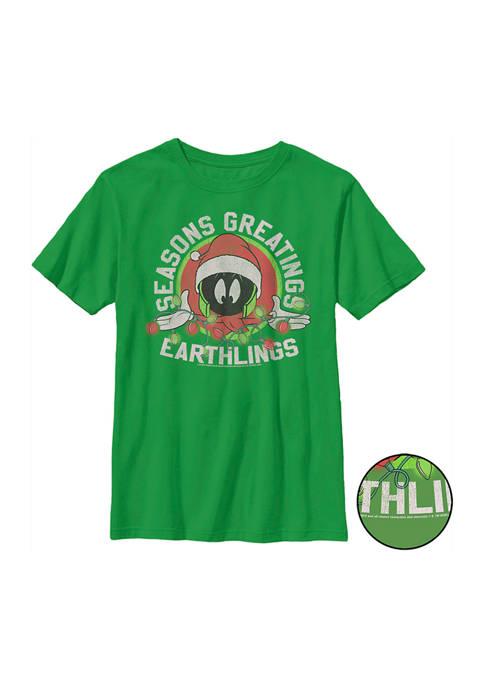 Looney Tunes™ Boys 4-7 Seasons Greetings Earthlings Graphic
