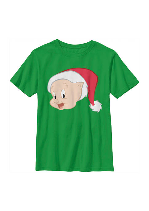 Looney Tunes™ Boys 4-7 Santa Hat Porky Graphic