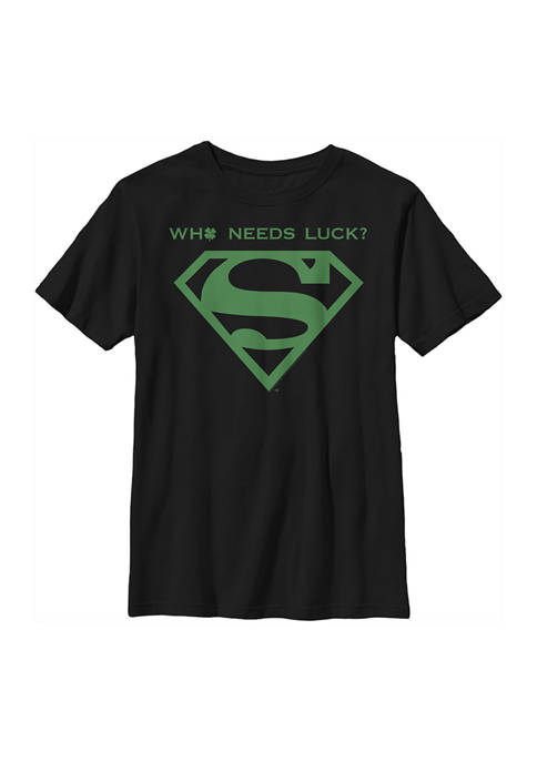 Superman™ Boys 4-7 Who Needs Graphic T-Shirt
