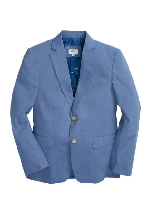 Crown & Ivy™ Boys 8-20 Blue Chambray Jacket