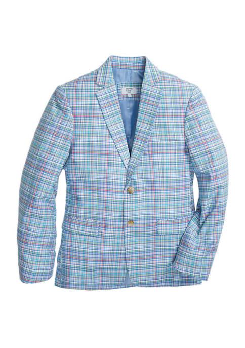 Crown & Ivy™ Boys 8-20 Blue Plaid Blazer