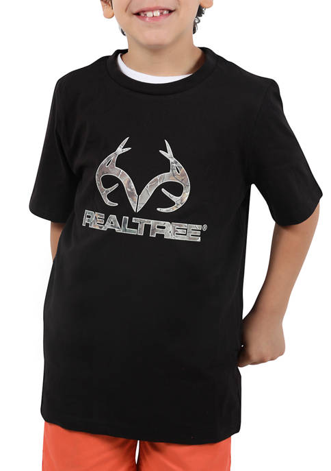 Realtree Boys 8-20 Short Sleeve Logo Graphic T-Shirt