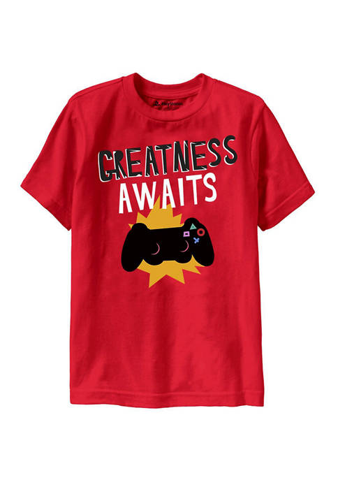 Ripple Junction Boys 8-20 Greatness Awaits Graphic T-Shirt
