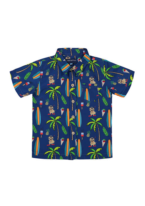 Andy & Evan Toddler Boys Waterproof Beach Button