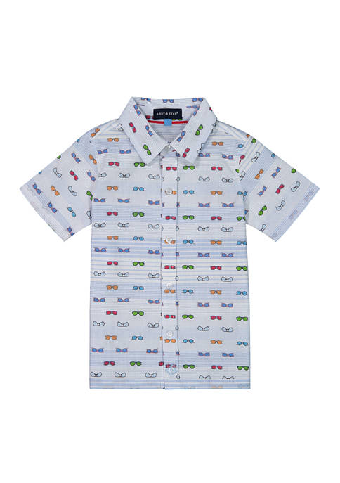 Andy & Evan Toddler Boys Short Sleeve Button