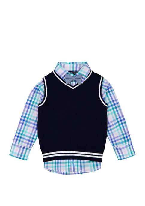Toddler Boys Sweater Vest Set