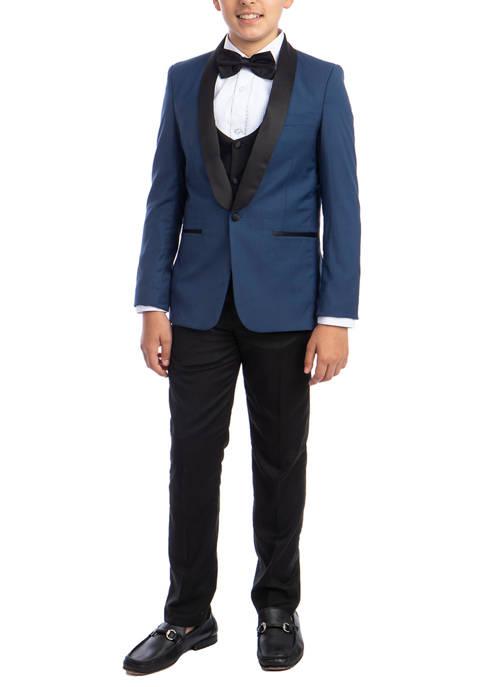 Boys 2-20 Indigo 5-Piece Shawl Collar Tuxedo