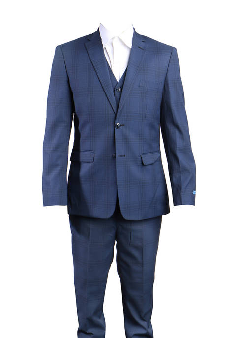 Boys 2-20 Navy 3-Piece Nail Head Suit