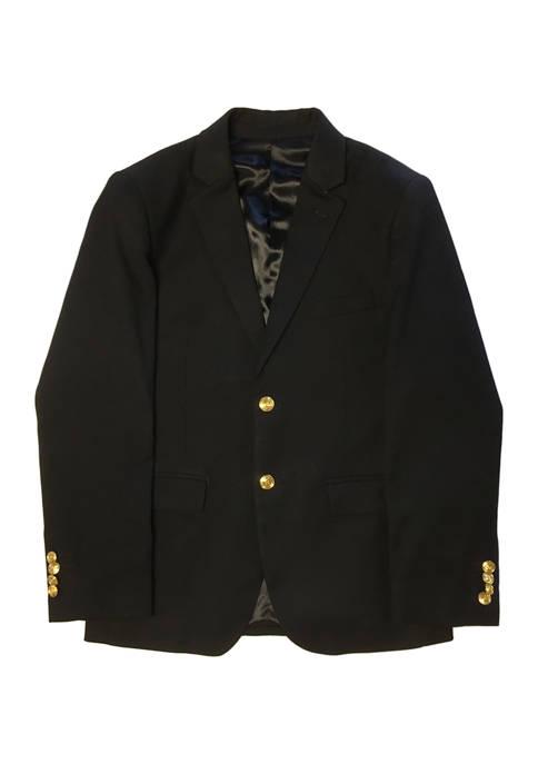 Boys 2-20 Black Solid Jacket